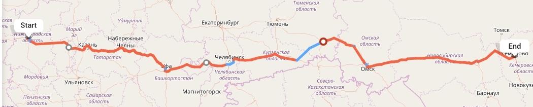 Переезд из Нижнего Новгорода в Кемерово
