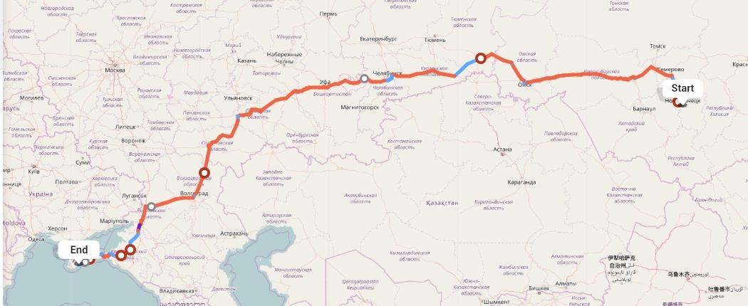 Переезд из Новокузнецка в Алушту
