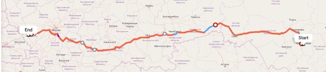 Переезд из Новокузнецка в Смоленск