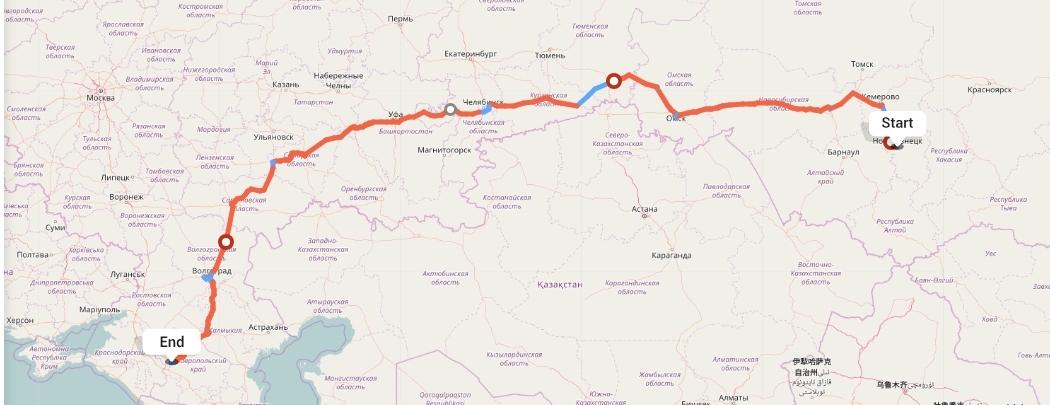 Переезд из Новокузнецка в Ставрополь