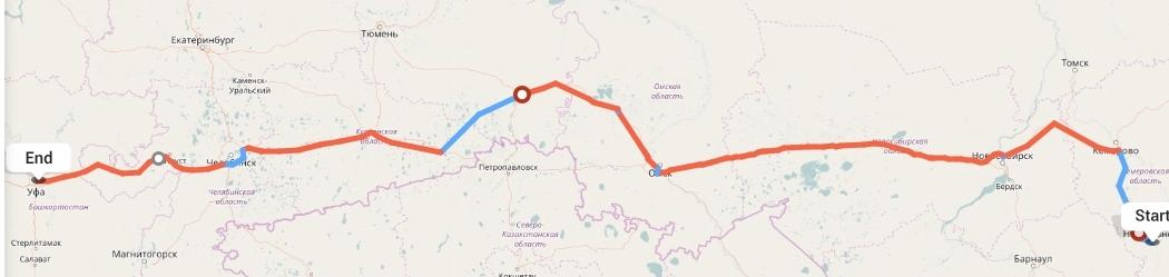 Переезд из Новокузнецка в Уфу