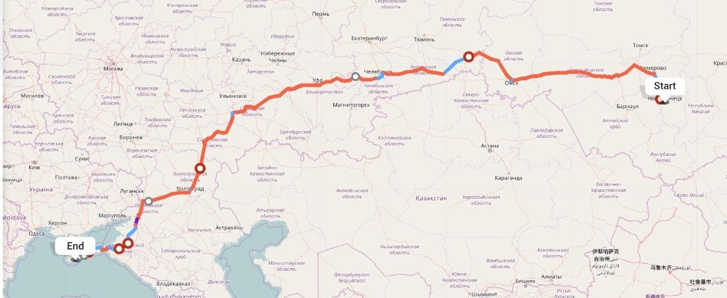 Переезд из Новокузнецка в Ялту