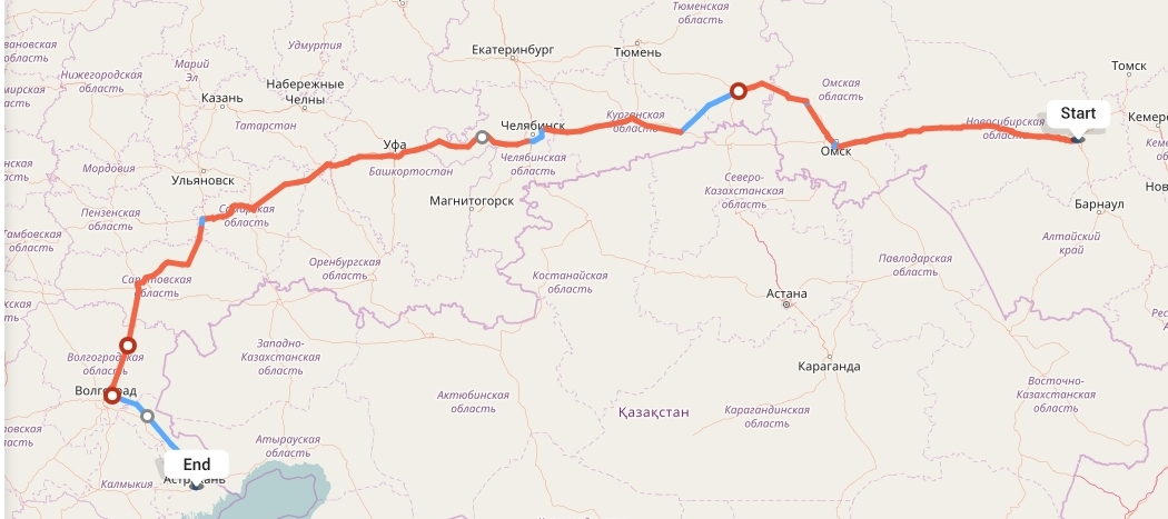 Переезд из Новосибирска в Астрахань