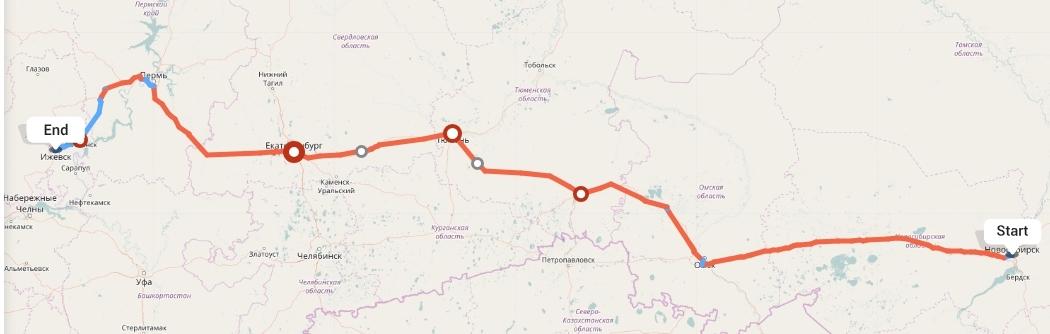 Переезд из Новосибирска в Ижевск