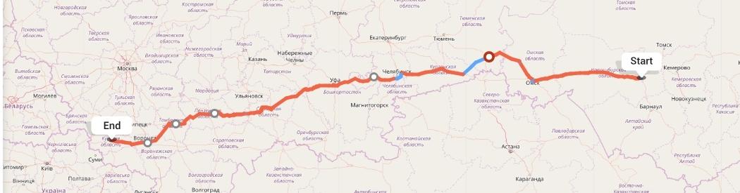 Переезд из Новосибирска в Курск