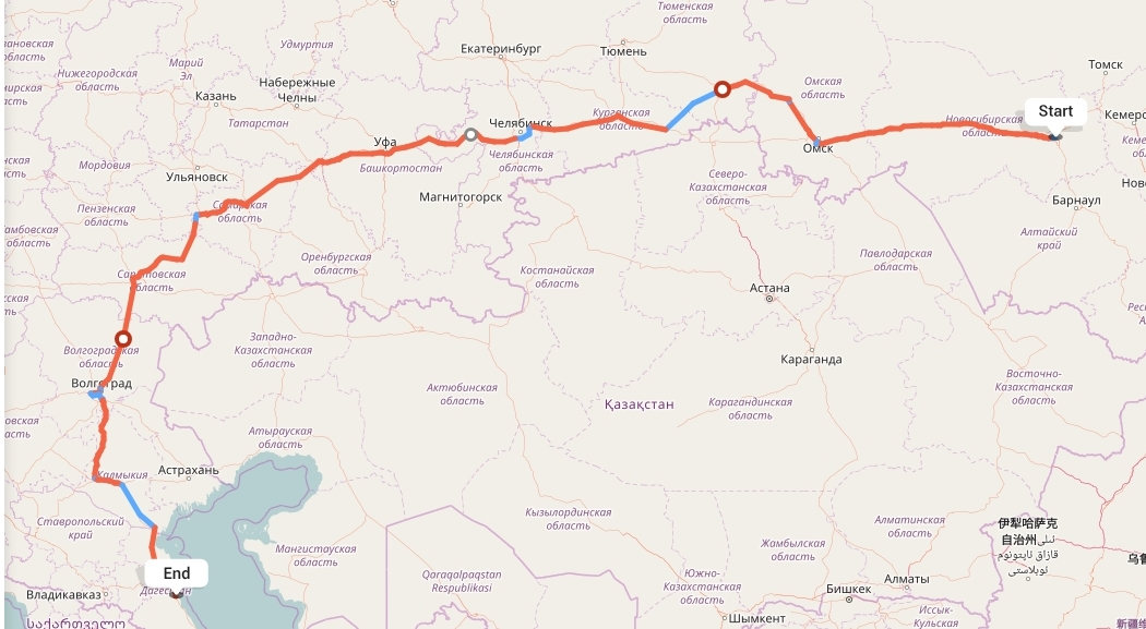 Переезд из Новосибирска в Махачкалу