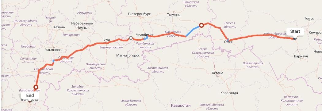 Переезд из Новосибирска в Волгоград