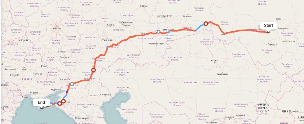 Переезд из Новосибирска в Ялту