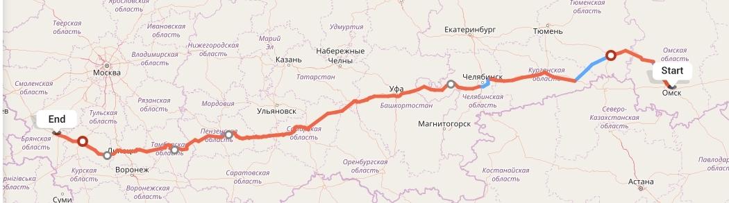 Переезд из Омска в Брянск