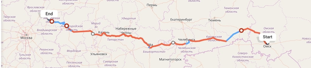 Переезд из Омска в Иваново