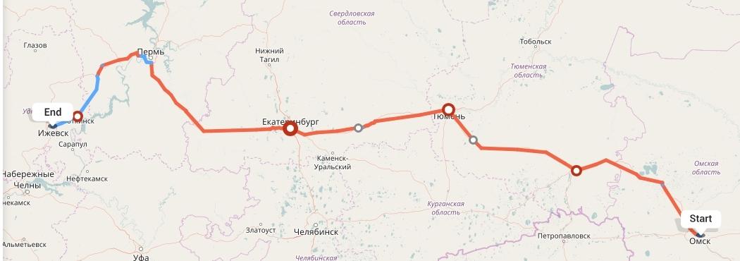 Переезд из Омска в Ижевск