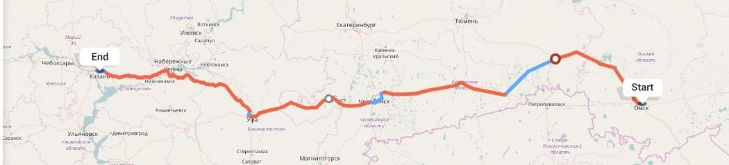 Переезд из Омска в Казань