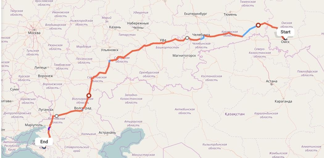 Переезд из Омска в Краснодар