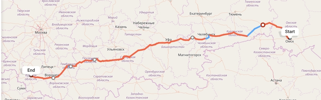 Переезд из Омска в Курск