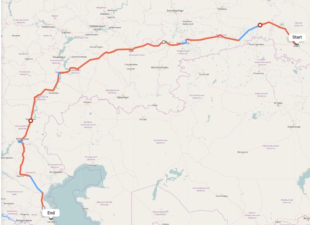 Переезд из Омска в Махачкалу