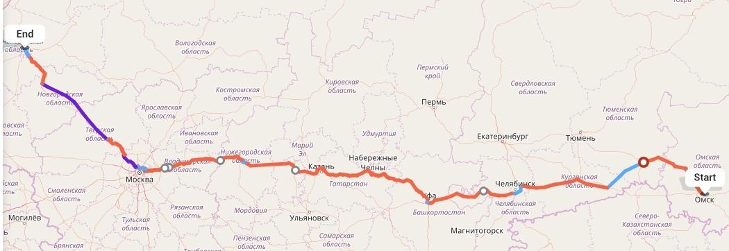 Переезд из Омска в Санкт-Петербург
