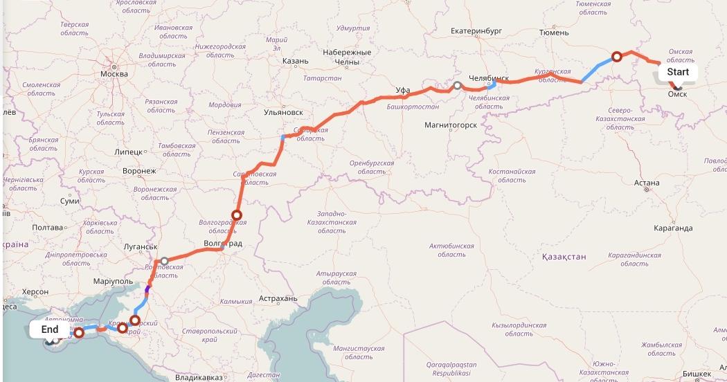 Переезд из Омска в Севастополь