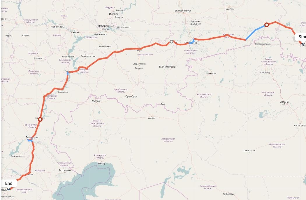Переезд из Омска в Ставрополь