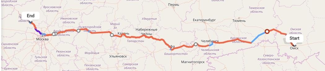 Переезд из Омска в Тверь