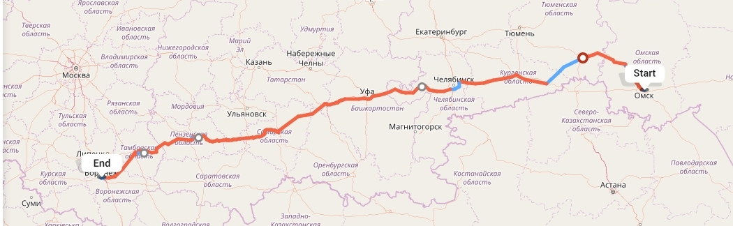 Переезд из Омска в Воронеж