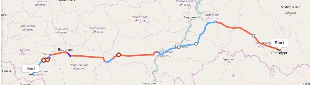 Переезд из Оренбурга в Белгород
