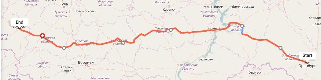 Переезд из Оренбурга в Брянск