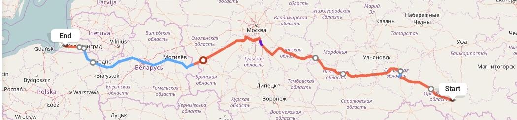 Переезд из Оренбурга в Калининград
