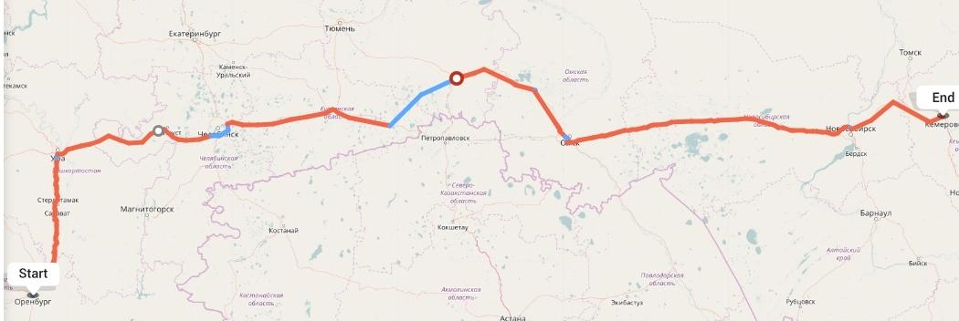 Переезд из Оренбурга в Кемерово