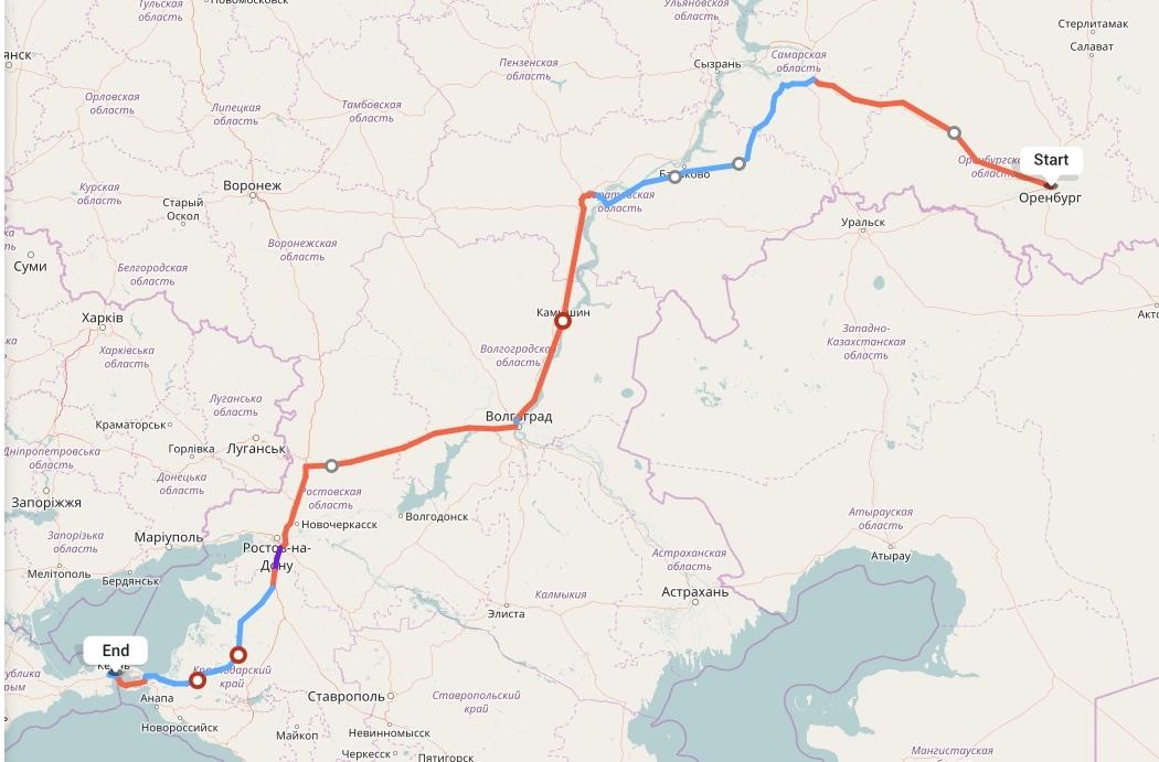 Переезд из Оренбурга в Керчь