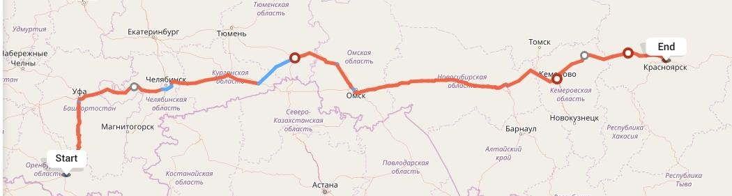 Переезд из Оренбурга в Красноярск