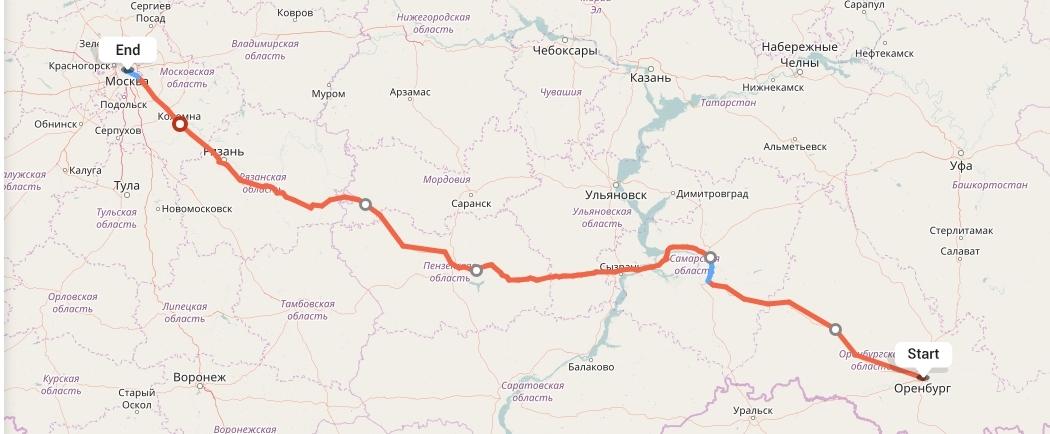 Переезд из Оренбурга в Москву