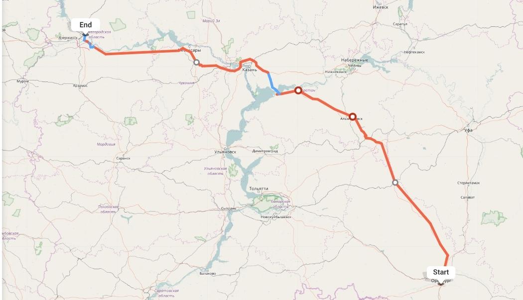 Переезд из Оренбурга в Нижний Новгород