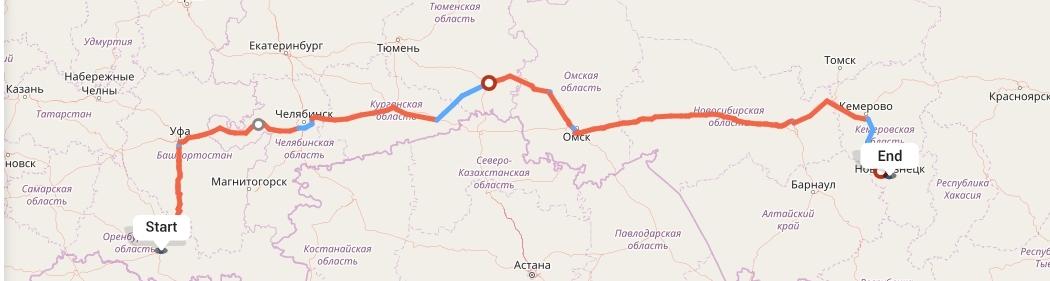 Переезд из Оренбурга в Новокузнецк