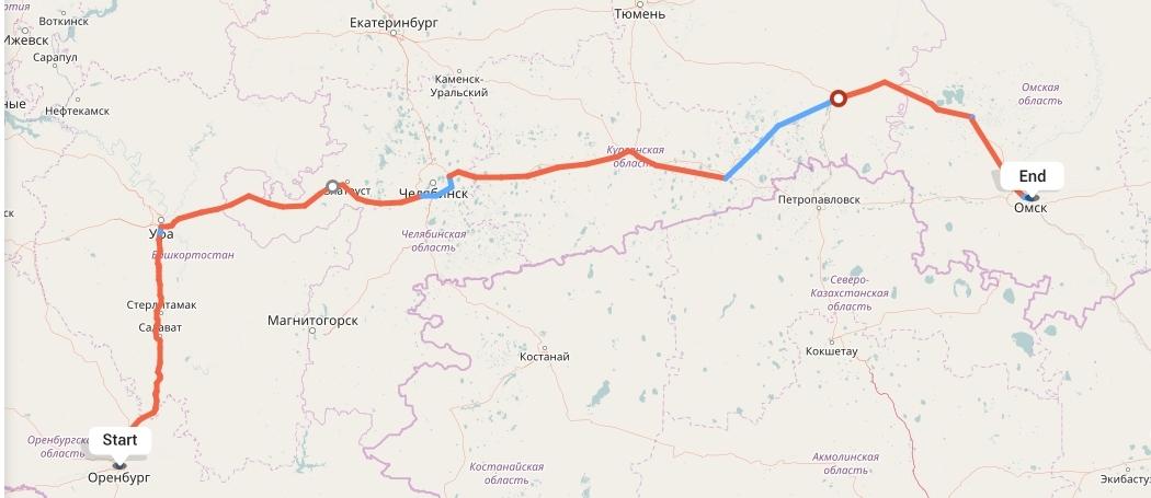 Переезд из Оренбурга в Омск