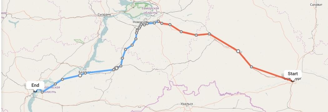 Переезд из Оренбурга в Саратов