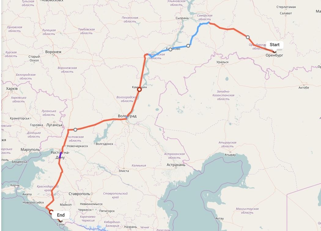 Переезд из Оренбурга в Сочи