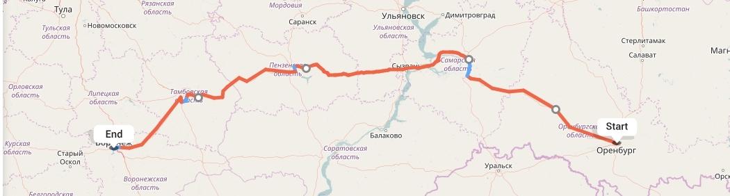 Переезд из Оренбурга в Воронеж