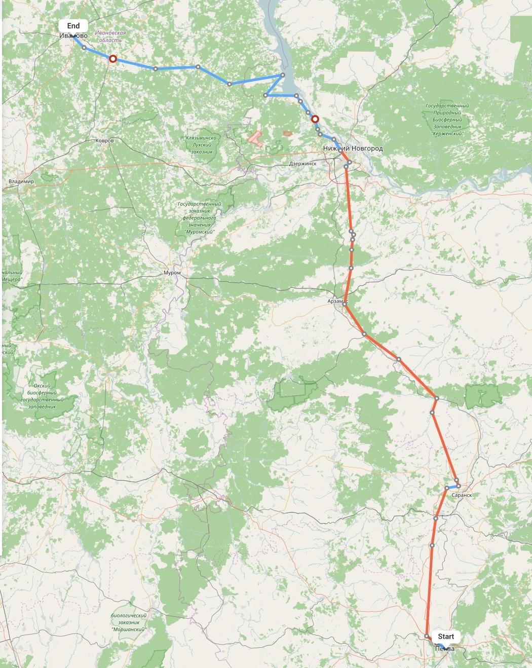Переезд из Пензы в Иваново