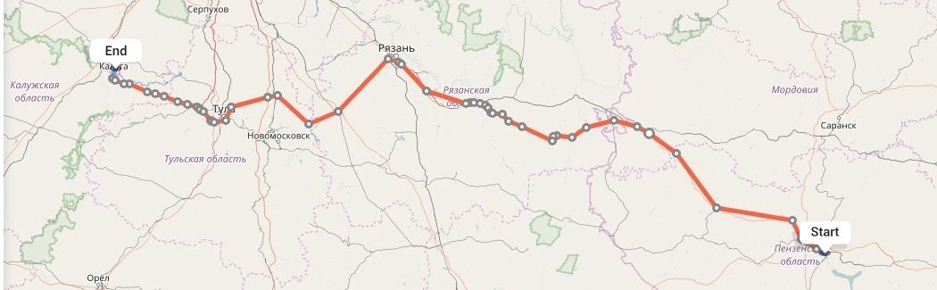 Переезд из Пензы в Калугу