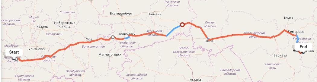Переезд из Пензы в Новокузнецк