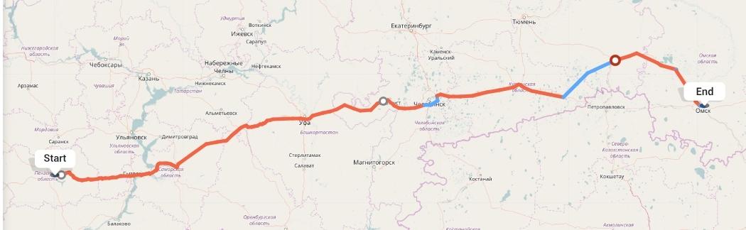 Переезд из Пензы в Омск