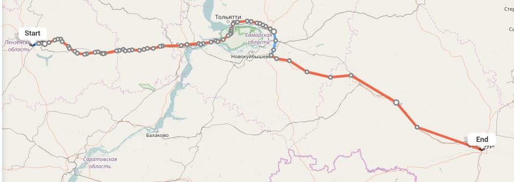 Переезд из Пензы в Оренбург