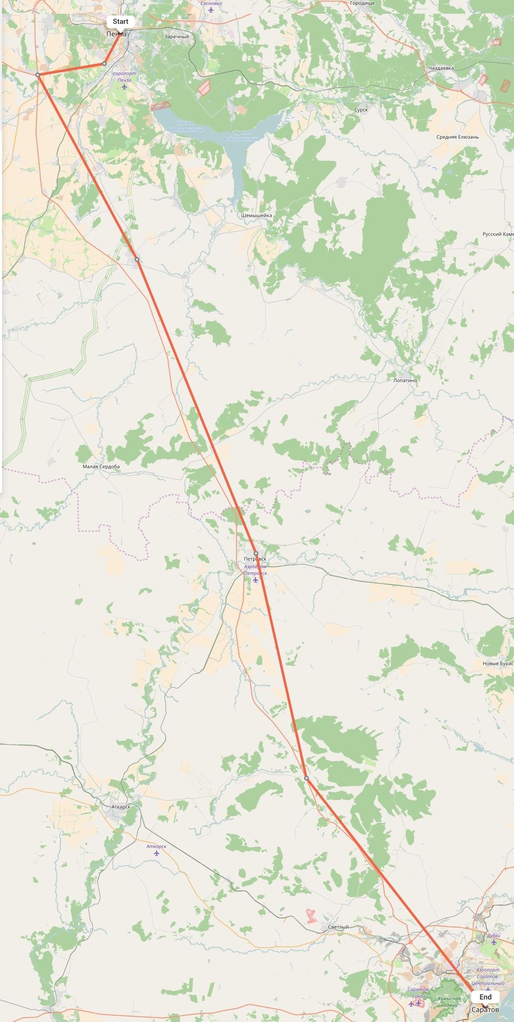 Переезд из Пензы в Саратов