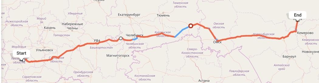 Переезд из Пензы в Томск