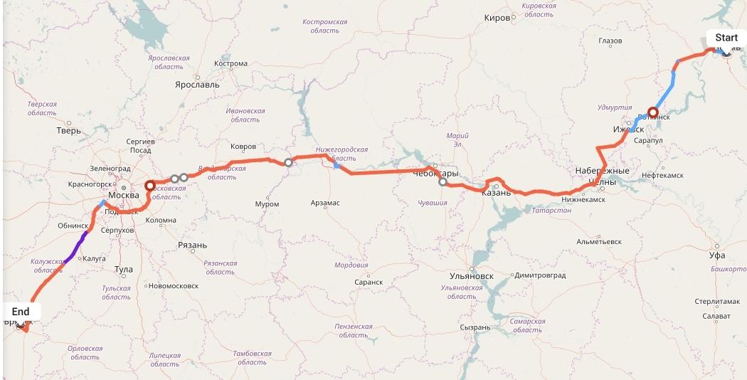 Переезд из Перми в Брянск