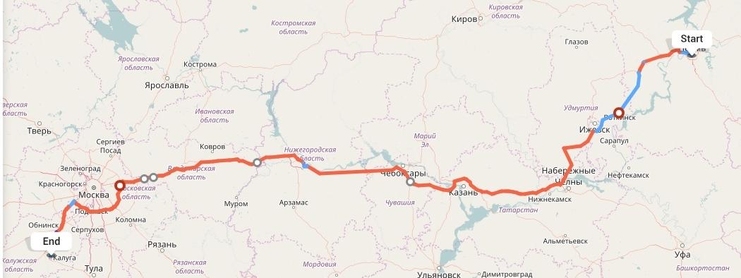 Переезд из Перми в Калугу