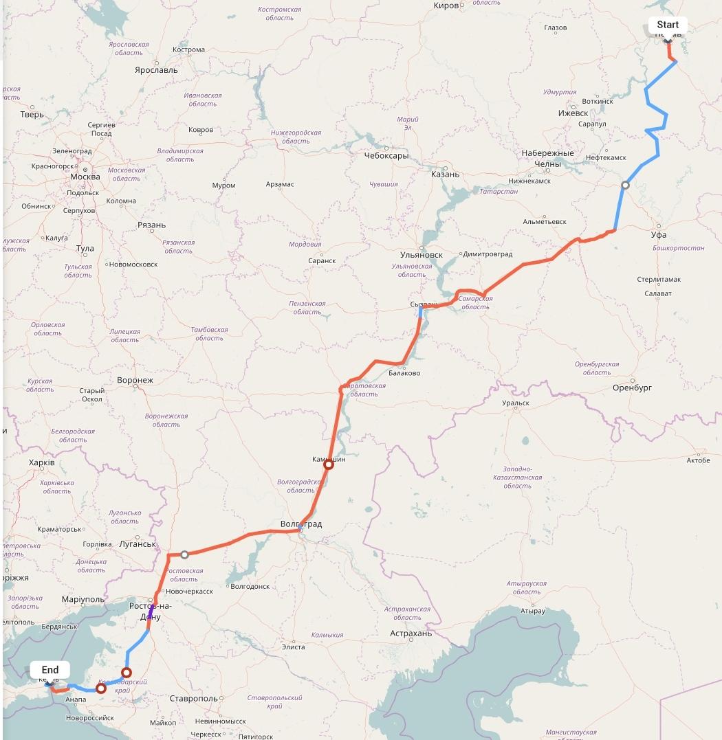 Переезд из Перми в Керчь