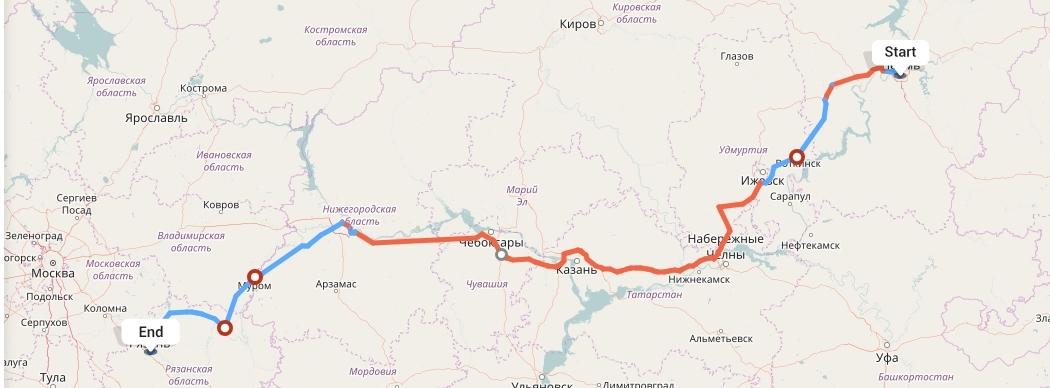 Переезд из Перми в Рязань
