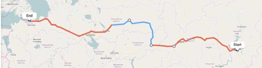 Переезд из Перми в Санкт-Петербург
