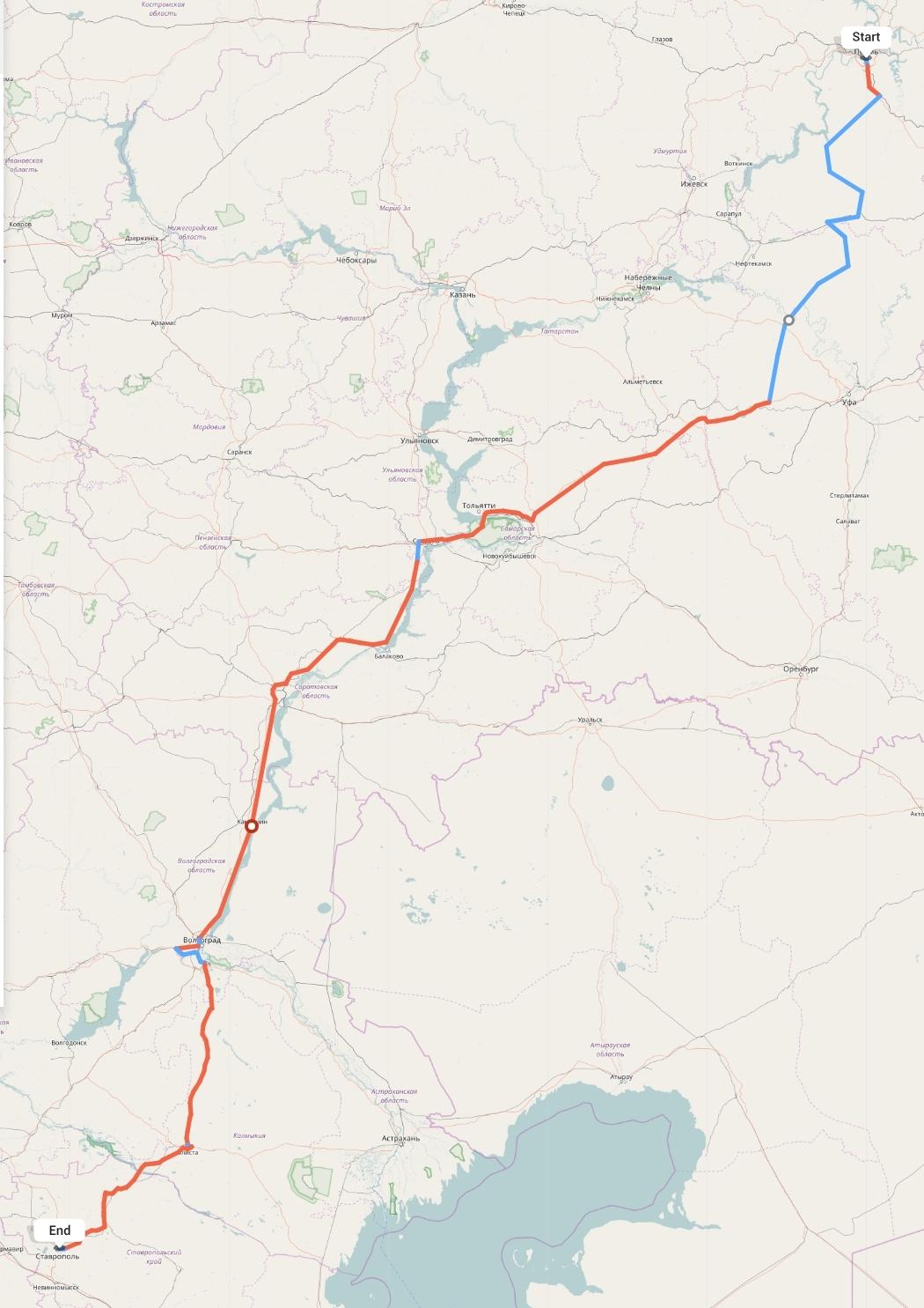 Переезд из Перми в Ставрополь